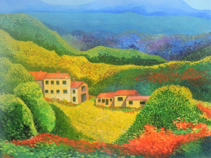 Tuscany Hillside by Mike Hellem