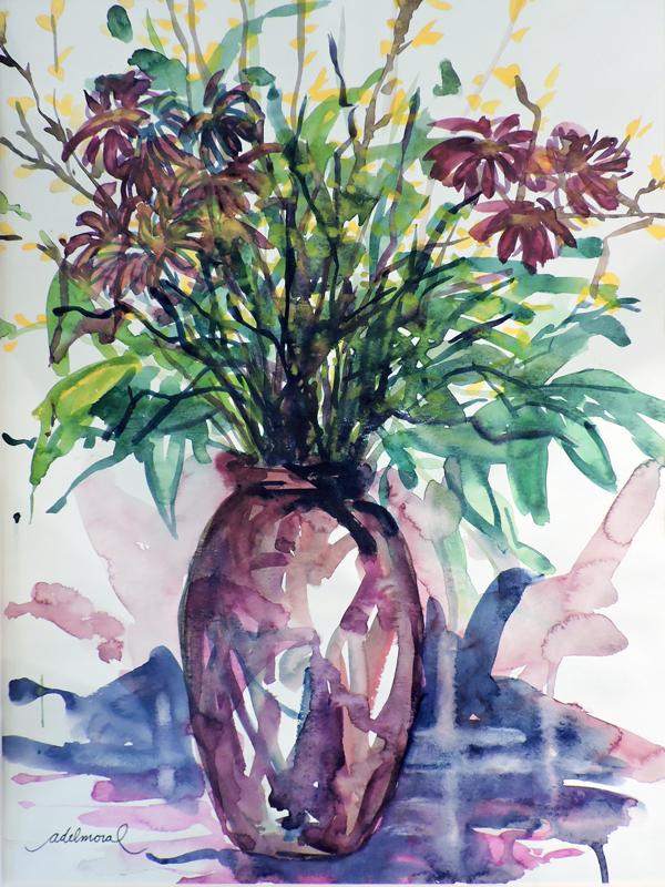 Blue-Vase-with-Wild-Flower