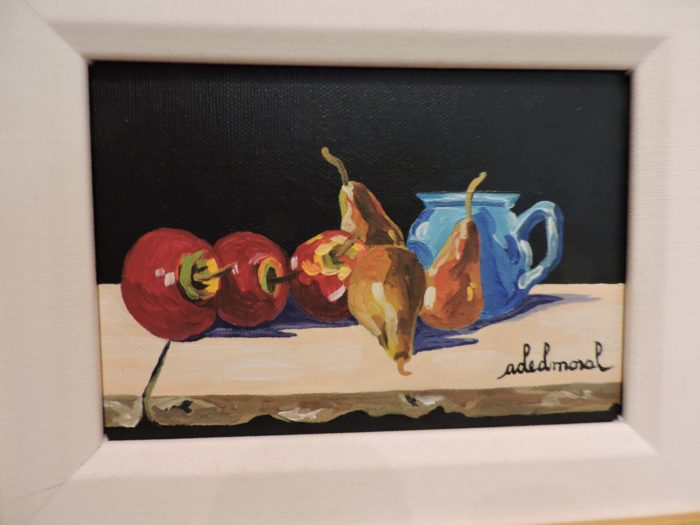 Assorted Fruit with Blue Cup